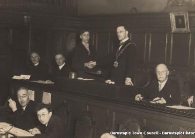 1929-1981 Town Council Album, Image #48 Presenting Royal Humane Society Medal