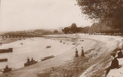 River Taw & LongBridge from Rock Park – Barnstaple Then & Now