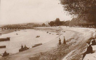 River Taw & LongBridge from Rock Park – Barnstaple Then & Now